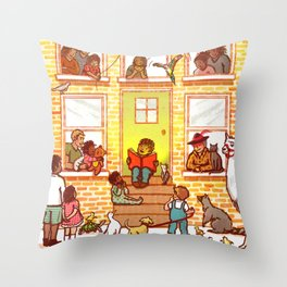 Neighborhood Read Aloud Throw Pillow