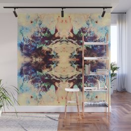 Abstract Colorful Batik Butterfly Pattern Wall Mural