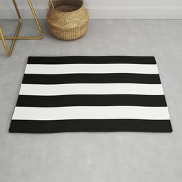Vertical Black Stripes Rug