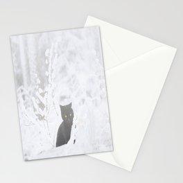 Black Cat White Snow #decor #society6 Stationery Cards