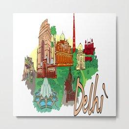 Delhi India Metal Print