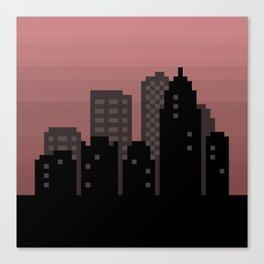Pixel City Skyline Canvas Print