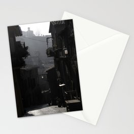 Fog Engulfs a Quiet Village Stationery Cards