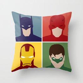 Minimalist Heroes Throw Pillow