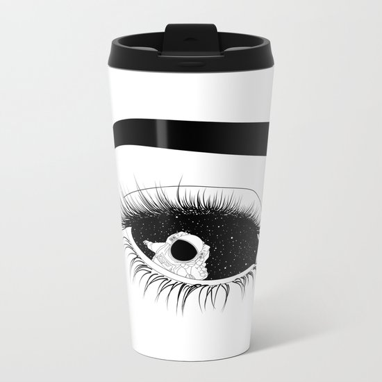 In here, out there Metal Travel Mug