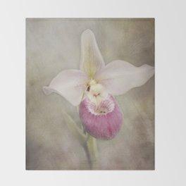 Cinderella's Orchid Throw Blanket
