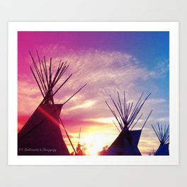 Sunset Tipi Art Print
