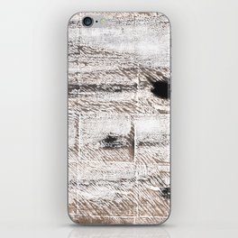 Ghost white abstract watercolor iPhone Skin