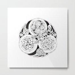 BBC Merlin: In Spite of Everything, the Stars (Dragon Triskelion tattoo) Metal Print