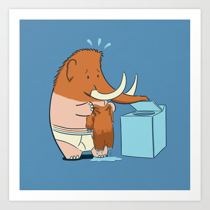 Mammoth Mistake Art Print