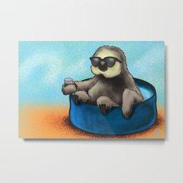 Sammy the Sloth Metal Print