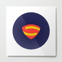 Geometric Superman Metal Print