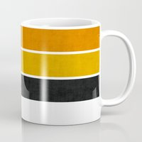 bee Mugs featuring Bee by Pattern Pillows