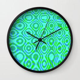 Mixed Polyps Green - Coral Reef Series 037 Wall Clock