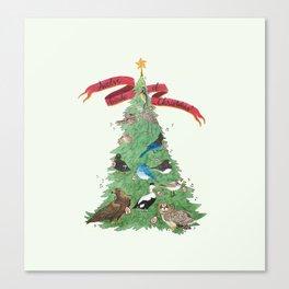 The Twelve Birds of Christmas Canvas Print