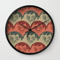 it crowd Wall Clocks featuring CROWD by Renato Klieger Gennari
