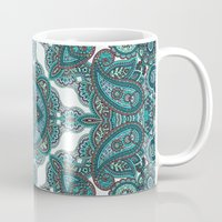 paisley Mugs featuring paisley by gtrappdesign