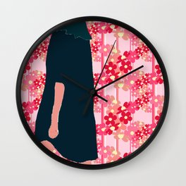 Changing Direction II (Daisies Walk) Wall Clock