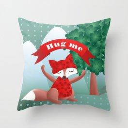 The fox say ''Hug Me'' Throw Pillow