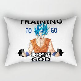 Training to go Super Saiyan God Rectangular Pillow