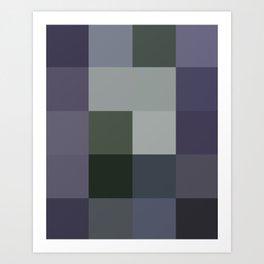 Colorscape: Blueberry Art Print
