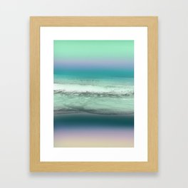 Twilight Sea in Shades of Green and Lavender Framed Art Print