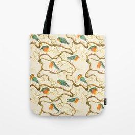 Robin in the Corkscrew Tote Bag