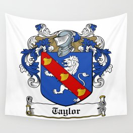Family Crest - Taylor - Coat of Arms Wall Tapestry