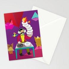 DJ Moustache  Stationery Cards