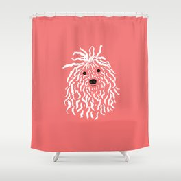 Puli (Coral and White) Shower Curtain