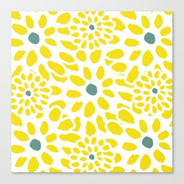 Flowers in Yellow Canvas Print