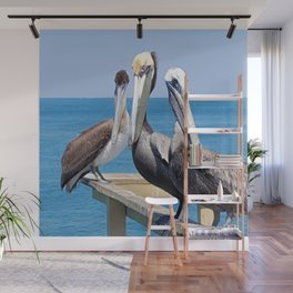 Larry, Curly and Moe Pelicans Wall Mural