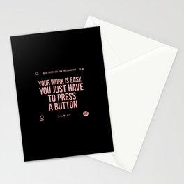 Press a button Stationery Cards