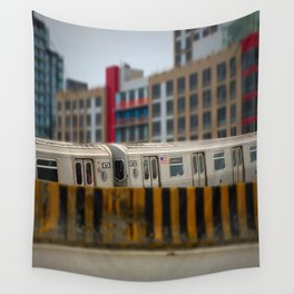 Number 7 Train NYC Wall Tapestry