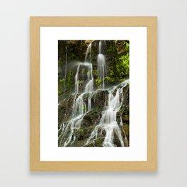 Ho Opi'i Waterfall  Framed Art Print