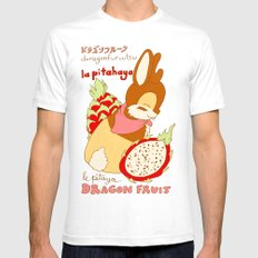 Jackalope and Dragon Fruit SMALL Mens Fitted Tee White