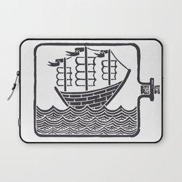 A Ship In A Bottle Laptop Sleeve