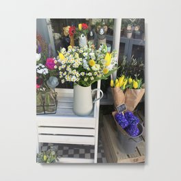 At the florists Metal Print