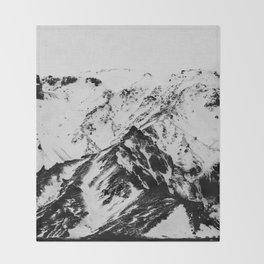 Minimalist Mountains Throw Blanket