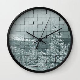 Winter collage Wall Clock