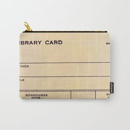 Library Card BSS 28 Carry-All Pouch