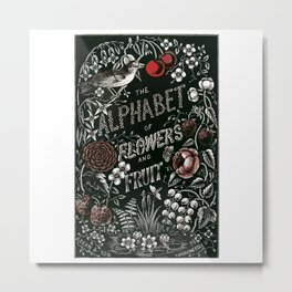 Flowers and Fruit Alphabet Metal Print