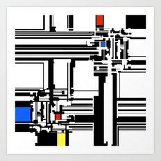 Mondrian inspired design  Art Print