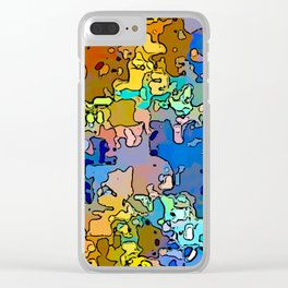 Abstract segmented 4 Clear iPhone Case