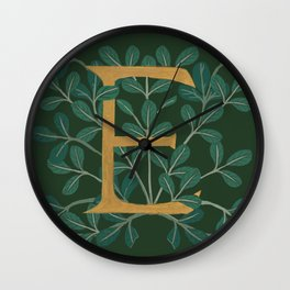Forest Letter E 2018 Wall Clock