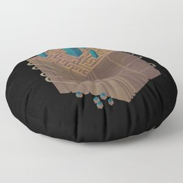 Within the Maze Floor Pillow