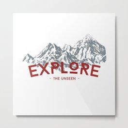 EXPLORE THE UNSEEN Metal Print