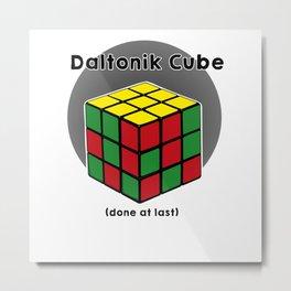 Daltoniks cube Metal Print