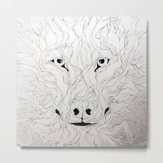 Wolfs wood Metal Print
