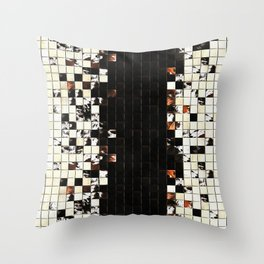 Square Tiles Ceramic Mosaic Pattern Sienna Accent Throw Pillow